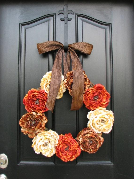 Fall wreaths autumn wreaths fall decor front door wreaths - Front door thanksgiving decorating ideas ...