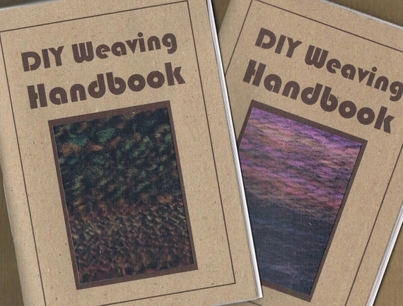 DIY WEAVING HANDBOOK 30 page zine, handwoven mail art project, tutorials, interviews & found poetry