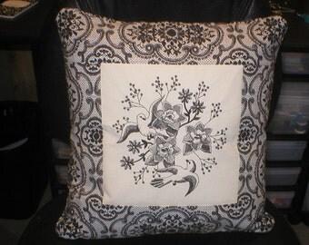 Blackwork pillow