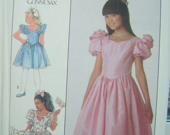 80's Simplicity 8985 Girl's Dress Pattern SALE Jessica McClintock Formal Gown Princess Dress Costume Gunne Sax Special Occasion Bridal Dress