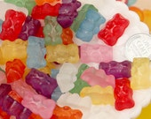 Candy Resin Cabochons - 20mm Fake Hard Resin Gummy Bears Flatback Cabochons - 8 pc set