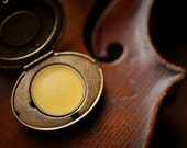 Violin in the Attic™ - Victorian Solid Perfume mini compact - Natural Perfume with wood, resin, rose, cocoa, frankincense, amber