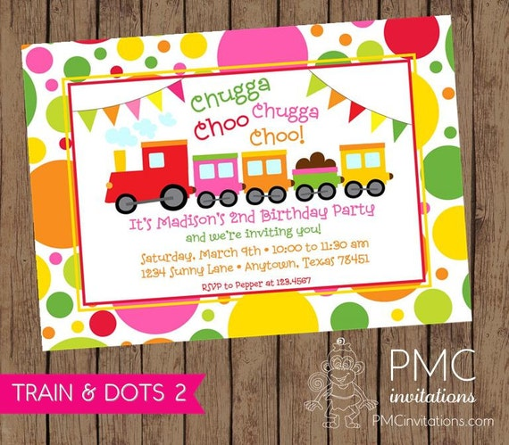 Girly train birthday invitations 100 each with envelopes by paper il570xn filmwisefo