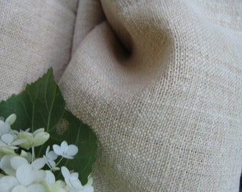 C 818 antique hemp linen roll 6.55y pale creamy FRENCH STYLE curtain fabric bedding 26.37wide