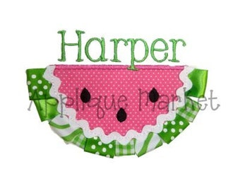 Machine Embroidery Design Applique Watermelon with Ribbon INSTANT DOWNLOAD