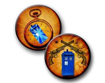 Flight of the Tardis - 12mm 16mm and 18mm circles - (3) Digital Downloads