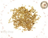1.5mm Half Round Gold Chrome Flat Back Acrylic Cabochon Nail Art - 100 pcs