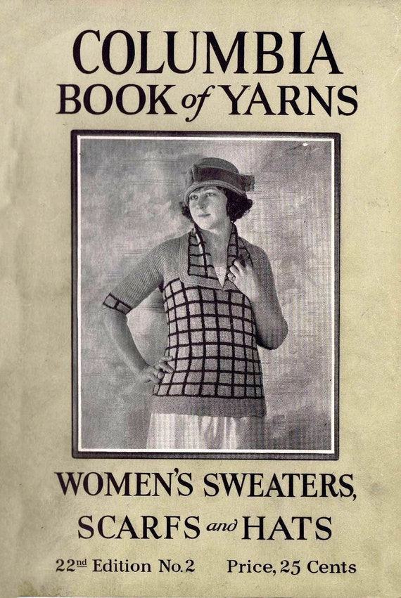 Vintage Knitting Patterns 1920s : Vintage Knitting Crochet Patterns 1920s Sweaters Scarves Hats
