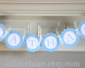 Personalized God Bless CHRISTENING Baptism or First Communion Banner