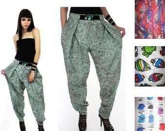 Vintage Inspired Hammer Pants Vintage 80s 90s Harem Zubaz Style Neon Surf Muscle Pants Pick Your Fabric Size XS M L XL