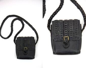 Vintage Black Leather Nordstrom Satchel