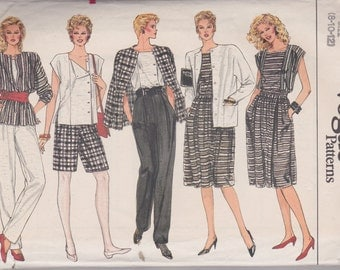 Vogue 8617 Misses' Jacket, Skirt, Pants, Shorts and Top Sizes 8, 10, 12 Vintage UNCUT Pattern