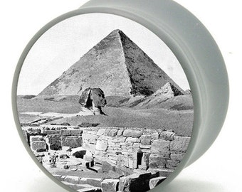 """11/16"""" (18mm) Pyramid in Egypt Power Plugs by BMA Pair"""