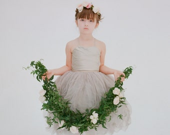 The Lauren Flower Girl Dress- Dove Grey (More Colors Available)