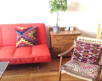 Geometric Tribal Kilim Rug Pillow Case Pillowcase Turkish Rug