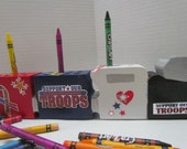 Military Crayon Holder~Support Our Troops Crayon Holder~Patriotic~Educational~Learning~Playtime~Classroom Accessory~Artist~Coloring Toy