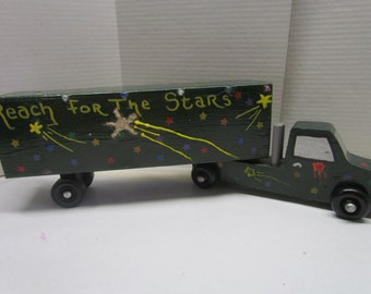 Box Truck~Wooden Box Truck Toy~Gift for Child~Truck~Push Toy~Birthday Gift~Christmas Gift~Handmade Box Truck~Handcrafted Wood Toy Truck