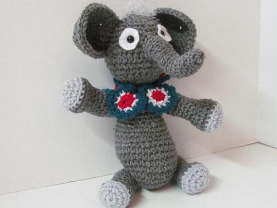 Amigurumi Care Instructions : Elephant/Crochet Elephant/Amigurumi Elephant/Plush