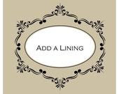 Add a Lining to your Dress or Gown, White or Ivory Lining