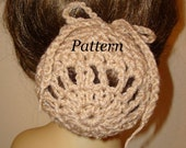 Pattern-Crochet Ballerina Large Bun Cover Snood Pattern(PDF Format Pattern In digital download) May sell finished item