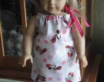 "Minnie Mouse 18"" Doll Pillowcase Dress"
