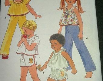 Girls Summer Top Shorts Pants Size 6 Butterick 6133