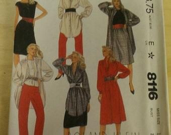Wardrobe featuring Big Shirt Dress Top Skirt Slacks 12 McCalls 8116