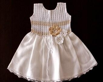 Crochet Linen dress
