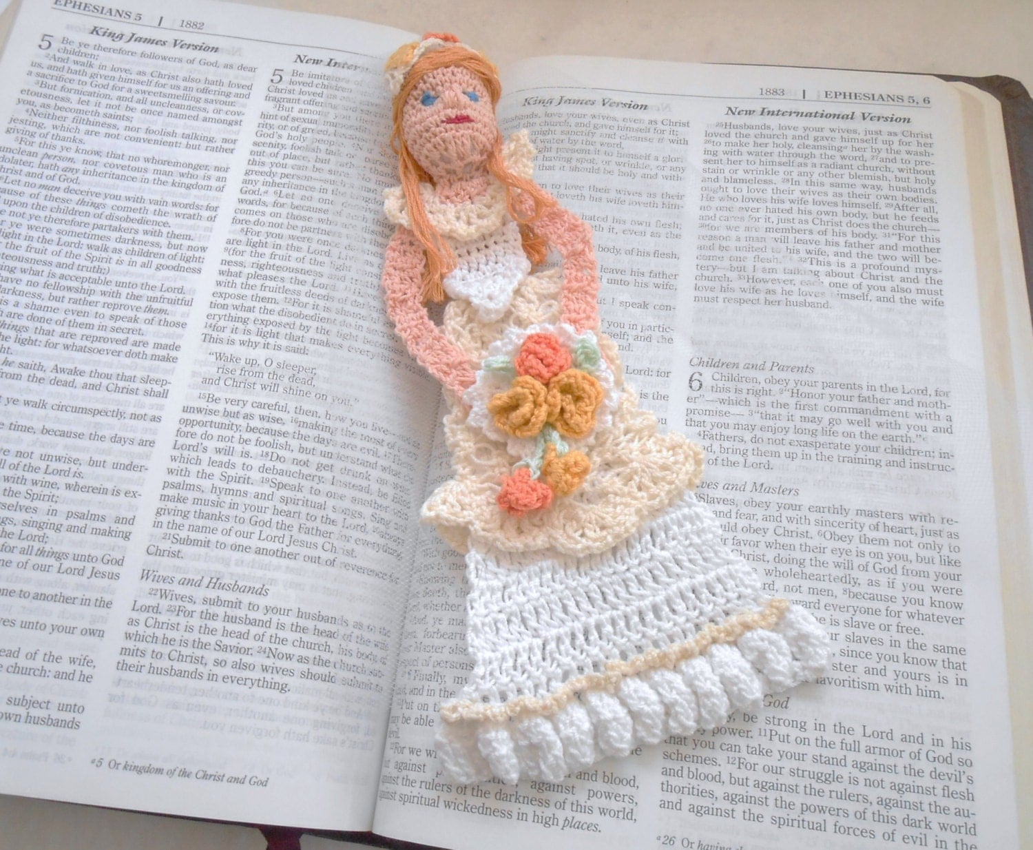 Crochet Wedding Gift: Bride Thread Crochet Bookmark Unique Bookmarks Bridal Gift