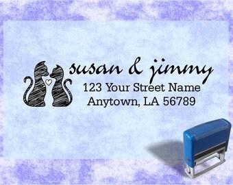 Personalized Self Inking Return Address Stamp - self inking address stamp - Custom Rubber Stamp R146