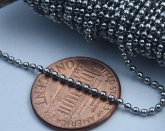 10 feet Stainless Steel BALL Chain - 1.5mm ball size with FREE 6 pcs of Connector (Insert Type)