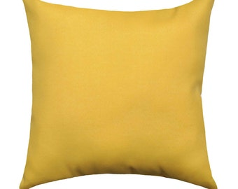 Solid Yellow STUFFED Pillow, Corn Yellow Double Sided Pillow, Yellow Cushion, Yellow Cotton Pillow, Sofa Pillow, Accent Pillow - Free Ship