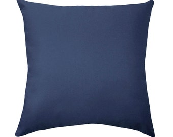 Premier Prints Solid Blue Double Sided Decorative Throw Pillow - Free Shipping