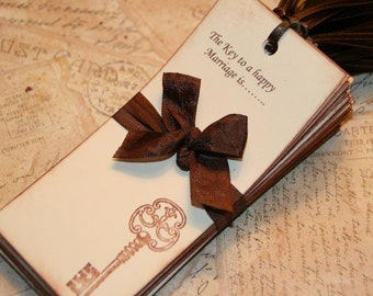 50 Wedding Wish Tree Tags - The Key to a happy  Marriage is.....