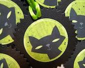 Spooky Cat Tags Set of Six