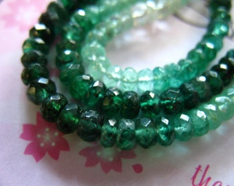 Shop Sale..5 10 25 pcs, 3-4 mm EMERALD Beads Rondelles, Luxe AAA, Shaded Green, faceted, holidays may birthstone precious true nd