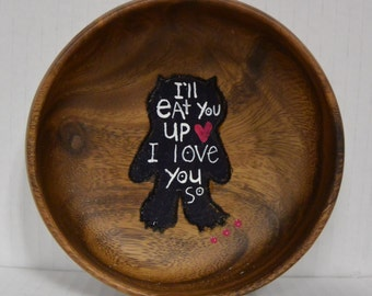 I'll EAT YOU UP I Love You So Where the Wild Things Are Trinket and Snack Bowl