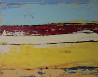 Along the Way 1 - Original Bold Modern Contemporary Art Abstract Painting, 36x30 inches, Ready to hang