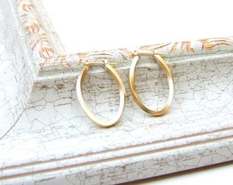 Oval Hoops, Gold Hoops, Gold Hoops Earrings, Minimalist Earrings, Stud Earrings, Bridesmaid, Everyday Earrings, Earrings