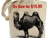 Camel Tote Bag - Canvas tote bag - Recycled tote bag - shopping bag