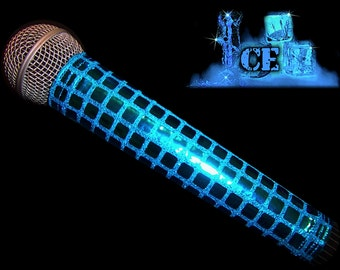 MICROPHONE COVER (ICE)  Blue Metallic  Mic Cover for Cordless Mic