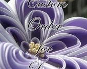 Custom Kanzashi Listing for Lorrie