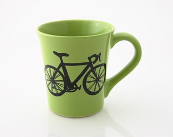 Personalized Mug Bike Mug Green