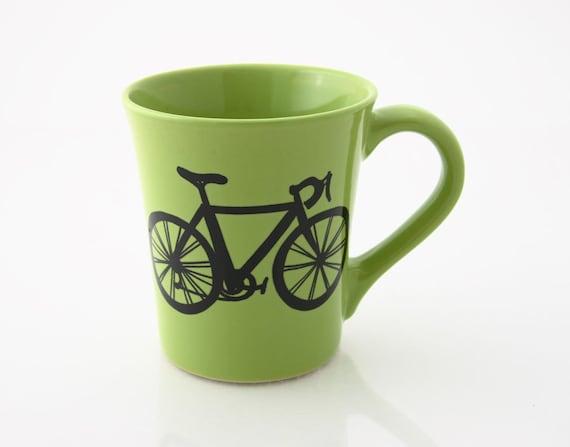 Personalized Mug Bike Mug Green