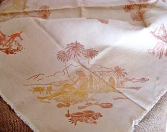 Vintage Hawaii - Aloha Tablecloth and Napkins