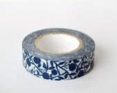mt Washi Masking Tape - Mandarin in Indigo Blue - Limited Edition - Iori (15m roll)