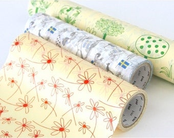 mt Wrap - Washi Wrapping Paper - Trees, Birds & Flowers - Small Box