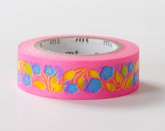 mt ex Washi Masking Tape - Retro Flower