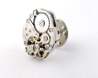 Steampunk tie tack // steampunk tie pin