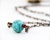 PIF Decency stone necklace - Turqurenite